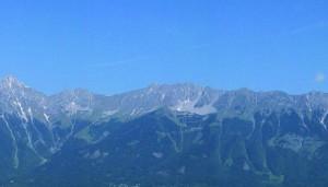 Ein Blick auf die Tiroler Berge.