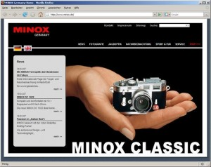Kamerahersteller setzt auf Standardmodule: TYPO3 bei Minox