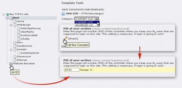 Der Eintrag der Seiten-ID im PID-of-user-archive-Feld verrät den Speicherort der Benutzerdaten.