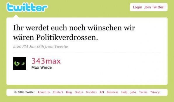Max Winde (Spreeblick, mobile-macs.de) bringt die Stimmung auf den Punkt.