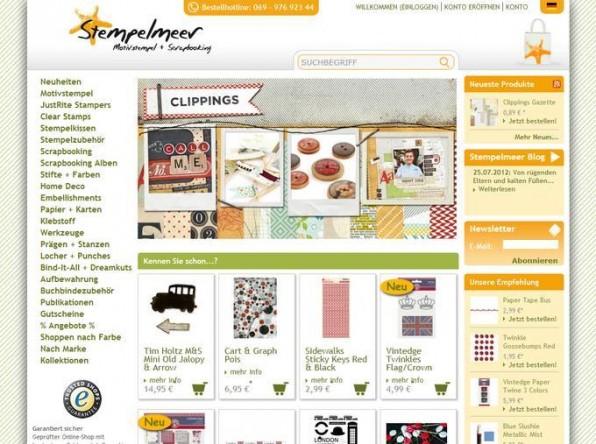 Der Online-Shop Stempelmeer setzt auf Oxid eShop und TYPO3.