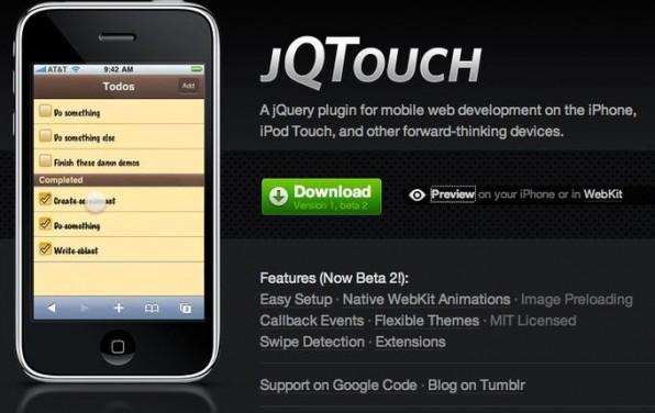 Mit dem noch jungen Framework jQTouch können Entwickler iPhone-WebApps mit Benutzeroberflächen im Apple-Look realisieren.