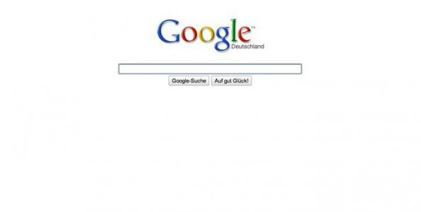Das Paradebeispiel für den anhaltenden Trend der Reduzierung auf das Wesentliche ist die Startseite von Google.