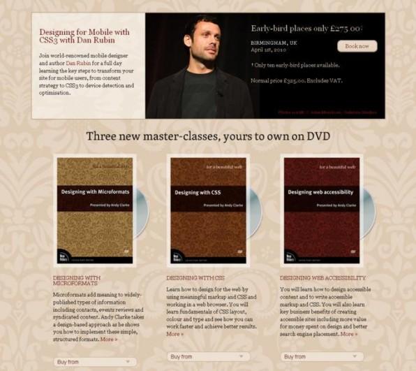 """Besucher, die Safari oder Chrome nutzen, überrascht die Website """"For A Beautiful Web"""" mit schick animierten DVDs."""