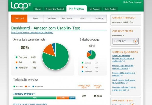 Tools wie Loop11 erleichtern die Gestaltung von User-Interfaces.