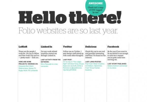 Umfangreiche Portale sind out und der Trend zeigt klar auf Ein-Seiten-Layouts. Ebenfalls trendverdächtig: der große Font.