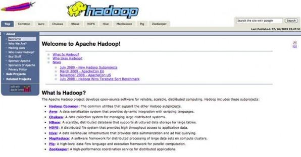 Apache Hadoop führt Queries und Auswertungen verteilt aus.