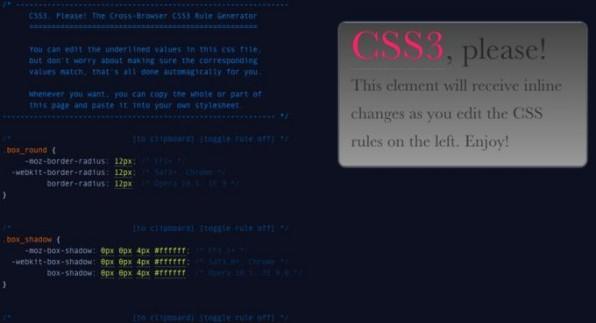 """""""CSS3, please!"""" hilft dabei, CSS-Angaben browserübergreifend zu formulieren."""