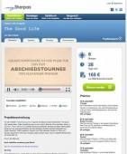 Auf der deutschen Plattform mySherpas bittet unter anderem der Filmmusiker Hans Hafner um finanzielle Unterstützung.