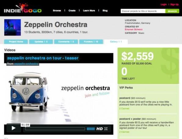 Das Zeppelin Orchester hat seine Tour durch Ost-Europa mit Hilfe von Crowdfunding finanziert.