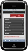 Das Beispiel zeigt, dass man aus einer TYPO3-Präsenz leicht eine mobile Webpräsenz erstellen kann.