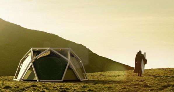 Leicht, einfach aufzubauen und trotzdem stabil: das aufblasbare Campingzelt von Stefan Schulze Dieckhoff und Stefan Clauss (bornintents.com).