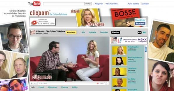 Die Talkshow Clixoom wird exklusiv für das Internet produziert.