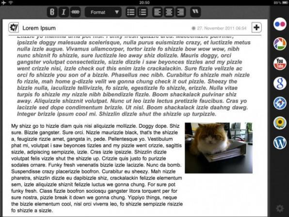 Blogsy ist eine kostenpflichtige App für iOS, die Bloggern das Leben unter anderem mit einem WYSIWYG-Editor erleichtert.