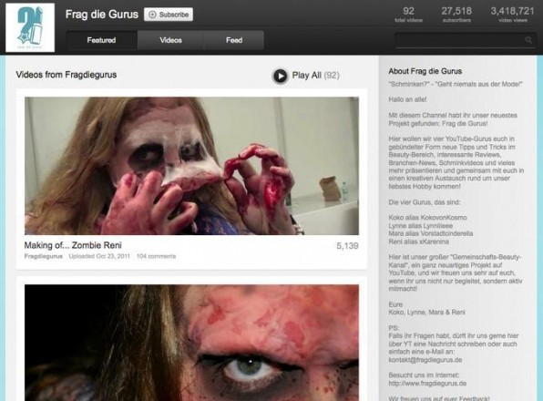 Halloween-Schmink-Videos als Format sind so sicher nur im Internet möglich.