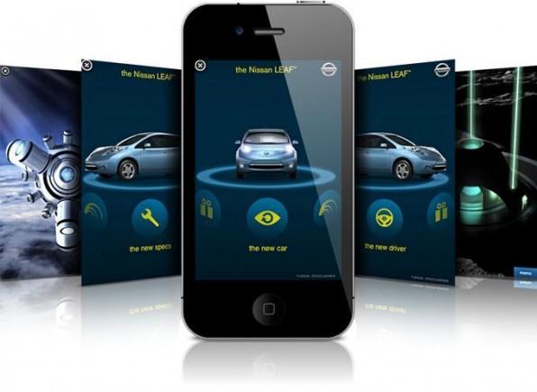 """Nissan setzte zur Einführung des  Modells """"Leaf"""" auf eine iAd-Kampagne."""