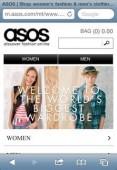 Der Modeshop Asos bietet eine optimierte Webseite für mobile Geräte.