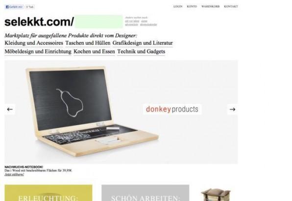 Minimalistische Webdesigns wie bei selekkt.com werden auch 2012 noch angesagt bleiben.
