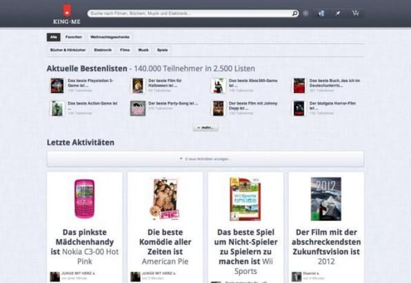 Der Onlineshop King.me nutzt Bewertungen von Nutzern, um in einem Produkt-Stream Inspiration für andere Nutzer zu liefern.