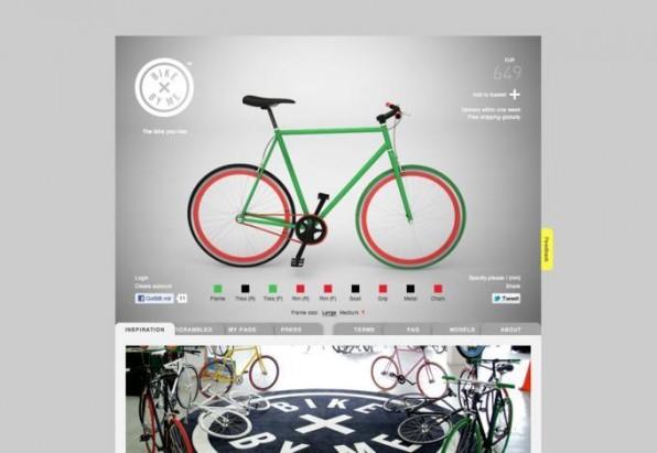 """Mit ein paar Klicks kann man sich bei """"Bike by me"""" schnell sein persönliches Fahrrad in den Lieblingsfarben zusammenstellen."""
