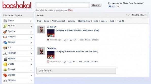 Die kostenlose Facebook-Suchmaschine booshaka! durchsucht öffentliche Statusmeldungen.