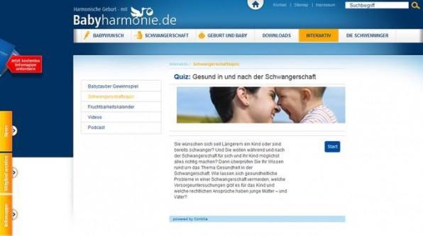 Die Schwenninger Krankenkasse bietet auf dem Satellitenportal babyharmonie.de ihrer Zielgruppe relevante Informationen und interaktiven Content.