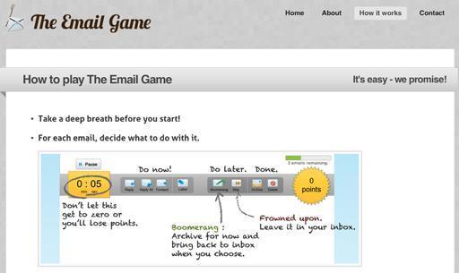 """Das """"Email Game"""" greift auf Gamification-Ansätze zurück, um besondere Anreize für die effektive Bearbeitung von E-Mails zu schaffen."""