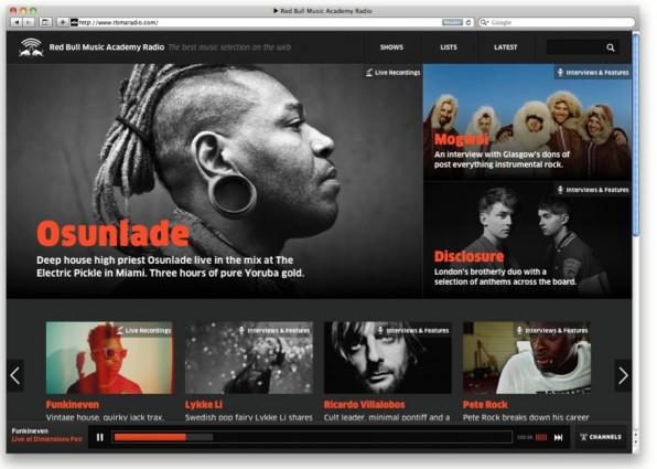 rbmaradio.com, das Online-Radio der Red Bull Music Academy, stellt Sendungen mittels Backbone.js und Backbone.Marionette zur Verfügung.