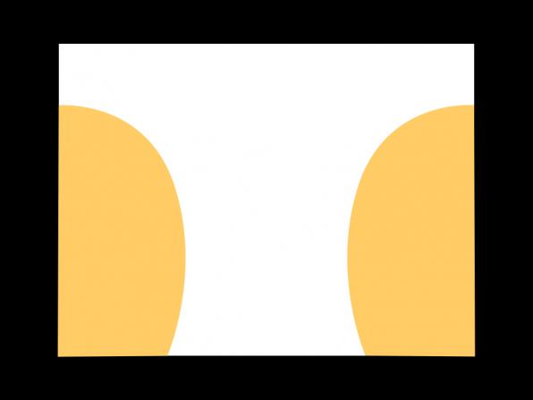 Fitts's law besagt, dass ein Bedienelement umso einfacher erreichbar ist, desto größer es ist und desto näher es dem Ausgangspunkt des Nutzers auf dem Bildschirm ist. Bei Tablets befindet sich die sinnvollste Position an den Rändern, an denen der Anwender das Gerät hält.