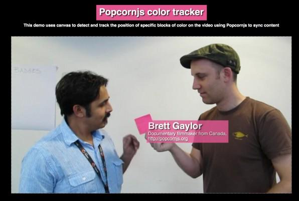 Immer mehr Video-Editing-Funktionen sind via Web-Tools möglich, wie Color Tracking auf Popcorn-Basis.