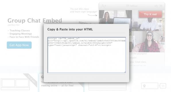 Mit Opentok Group Chat Embed kann man Videokonferenzen in jede beliebige Website unkompliziert integrieren.
