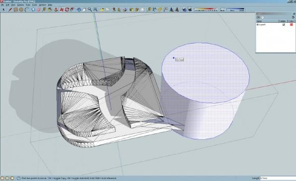 SketchUp eignet sich besonders für Architektur-Modelle, hat jedoch Probleme mit Rundungen.