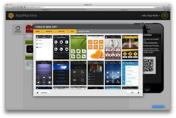 So wie AppMachine bieten alle App-Builder Design-Vorlagen zur grafischen Individualisierung der App. Die Möglichkeiten sind in der Regel aber sehr eingeschränkt.
