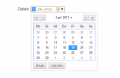 Nativer Datepicker im Google Chrome.