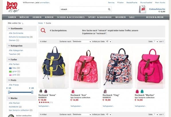 Die Produktsuche Fredhopper (eingesetzt bei bonbrix.de) eignet sich insbesondere für große, international agierende Shops mit heterogenem Produktsortiment.