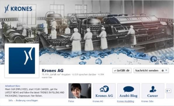 Die Facebook-Seite der Krones AG ist mit rund 75.000 Fans eine der größten deutschen im B2B-Bereich. Ihr Erfolg fußt auch auf der abwechslungsreichen Kommunikation.