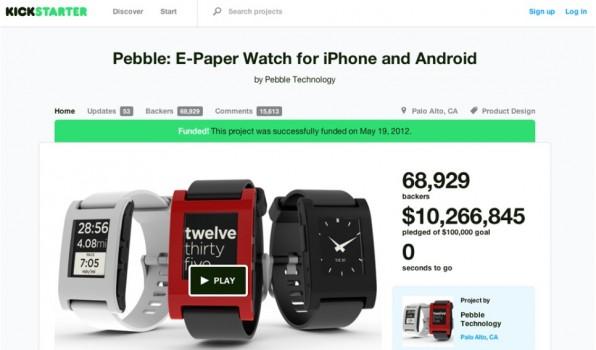 Das Team der Pebble Smartwatch zeigte bei seiner Crowdfunding-Kampagne, wie man mit Stretch Goals immer wieder zur Unterstützung motivieren kann.