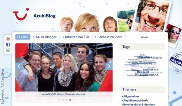 Von Reiseleitung und Events bis hin zu Betriebssport: Auf ihrem Blog geben die Azubis der TUI AG Einblicke in die Stationen ihrer Ausbildung.