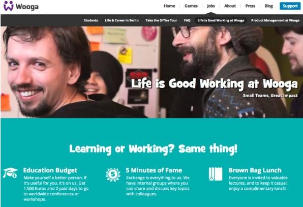Die Berliner Spieleschmiede Wooga unterstützt seine ausländischen Mitarbeiter bei den typischen Anfangsschwierigkeiten wie Wohnungssuche oder der Eröffnung eines Bankkontos. (Screenshot: Wooga)
