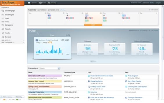 Auch ExactTarget von Salesforce bietet Marketing-Automatisierung für den Enterprise-Bereich. Ein wichtiger Bestandteil ist die übersichtliche Darstellung aller Marketing-Initiativen. (Screenshot: ExactTarget)