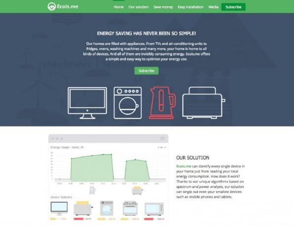 Das Startup EcoisMe hilft Unternehmen und Verbrauchern, Energiekosten zu senken. Es profitiert von der hervorragenden Infrastruktur, die Krakau der ansässigen Technologieszene bietet. (Screenshot: ecois.me)