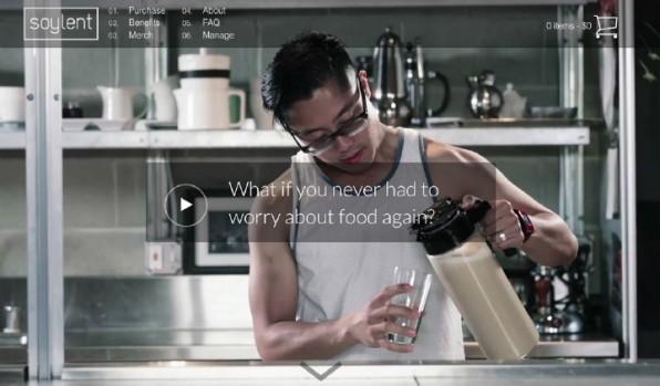 Die Notwendigkeit fester Nahrung ist für den US-amerikanischen Entwickler Rob Rhinehart ein Bug, den er fixen wollte. Heraus kam dabei die Flüssignahrung Soylent. Welche Disruption wird das für die Lebensmittelindustrie bedeuten? (Screenshot: soylent.com)