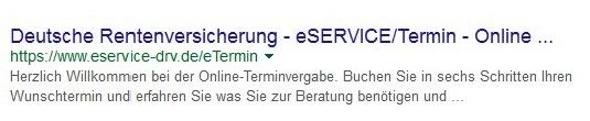 Die wichtigsten Keywords sollten möglichst weit vorne im Title stehen, um das Ranking zu optimieren. (Screenshot: google.de)