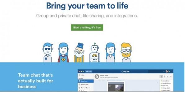 Die Inhouse-Variante des Chat-Dienstes HipChat bietet die gleiche Funktionsvielfalt wie seine Cloud-Version. Selbst die Desktop- und Mobile-Apps lassen sich dabei nutzen. (Screenshot: hipchat.com)