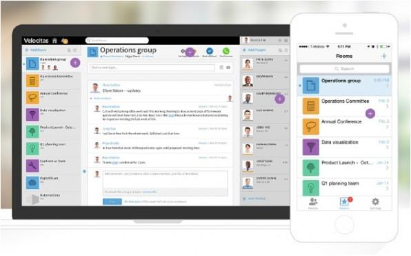 Unison ist eine weniger bekannte, aber interessante HipChat-Alternative, die man auch in Eigenregie betreiben kann. (Screenshot: unison.com)
