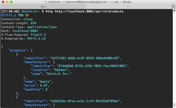 Ein Schnelltest mit einem Konsolenwerkzeug wie HTTPie (http://httpie.org) ermittelt, ob der Webservice wie gewünscht funktioniert. (Screenshot: httpie.org)