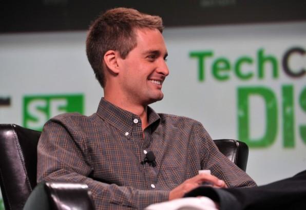 Hat gut lachen: Evan Spiegels Firma Snapchat gehört zu den am höchsten bewerteten Startups der Welt. Wie Snapchat selbst Geld verdienen will, ist aber völlig unklar. (Foto: flickr / TechCrunch)