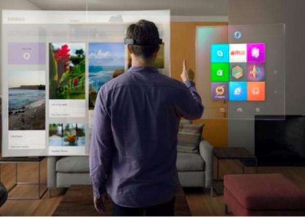 Microsoft setzt mit dem HoloLens-Projekt auf die Zukunft der virtuellen Realität. (Screenshot: Microsoft)