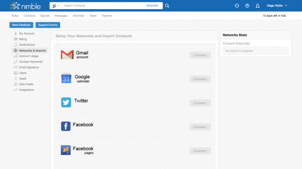 Nibble ermöglicht es den Anwendern, alle möglichen Kundenkontakte aus den verschiedenen sozialen Netzwerken zu bündeln.