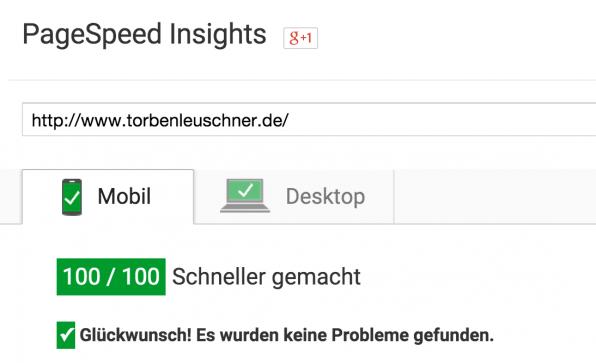 100 / 100 Punkten sind zwar schön anzusehen, aber lange nicht so wichtig wie die reale Ladezeit einer Webseite.